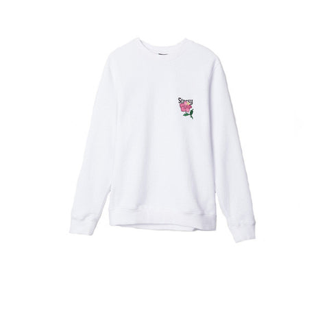 Stussy California Applique Crew White