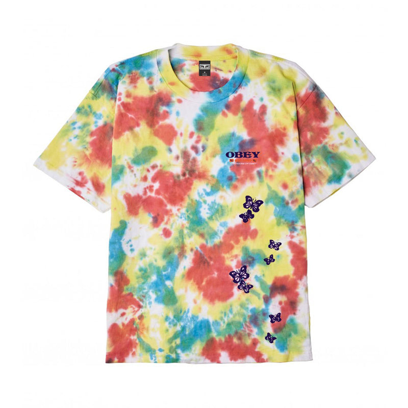 Obey To The Children Tee Rainbow Blotch