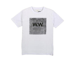 WOOD WOOD Concrete Square T-Shirt White - Kong Online - 1