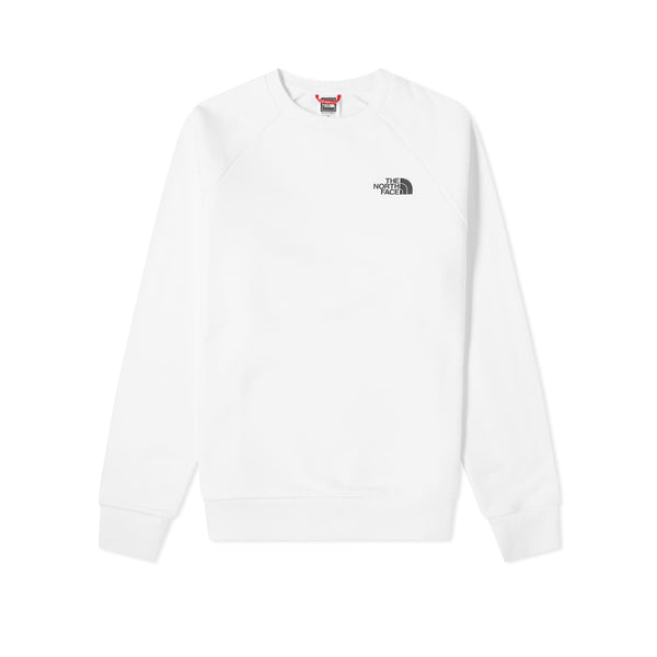 The North Face Raglan Red Box Crew White Flame Orange