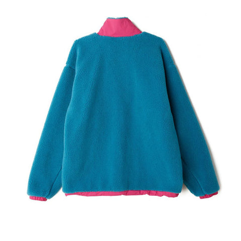 Obey Out There Sherpa Jacket Pure Teal