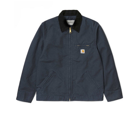 Carhartt Detroit Jacket Navy Black Rinsed - Kong Online