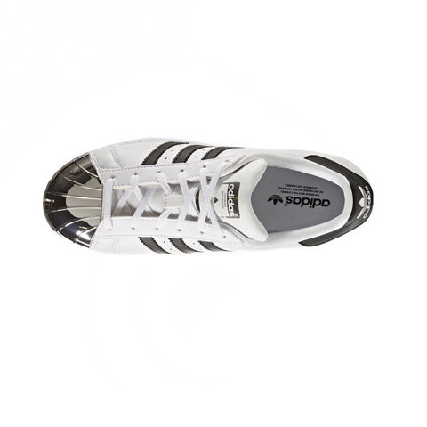 Adidas Superstar Metal Toe White Black Silver