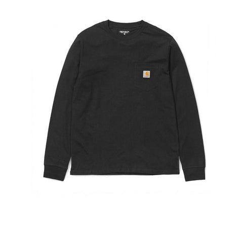 Carhartt L/S Pocket T-Shirt Black - Kong Online - 1