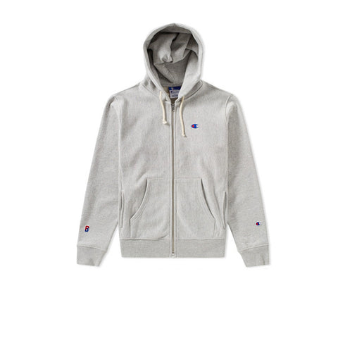 Champion x Beams Full Zip Sweatshirt Grey - Kong Online - 1