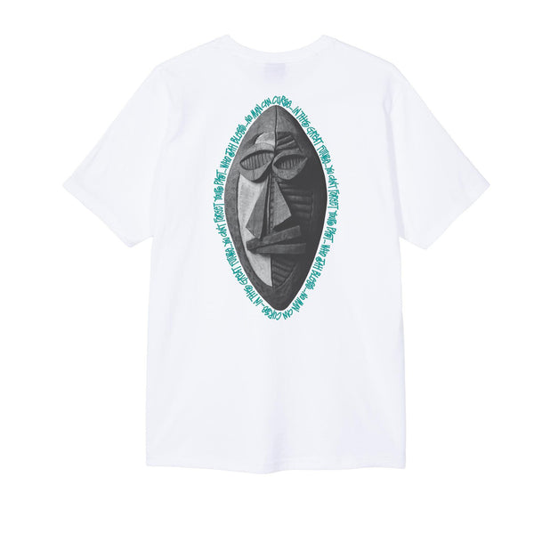 Stussy Tribal Mask Tee White