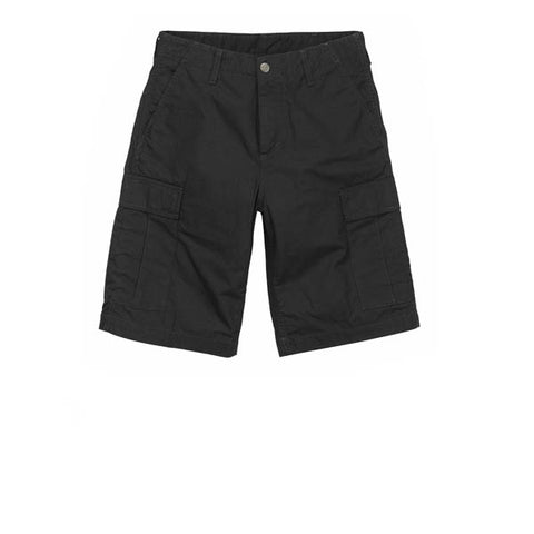 Carhartt Regular Cargo Short Black Rinsed