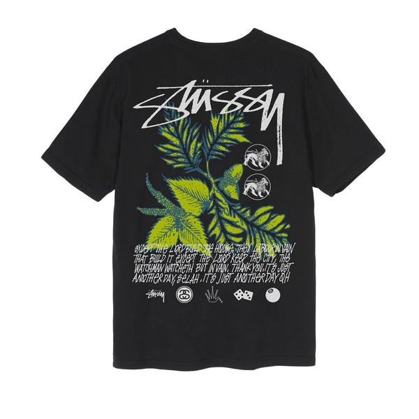 Stussy Bloom Pig. Dyed Tee Black