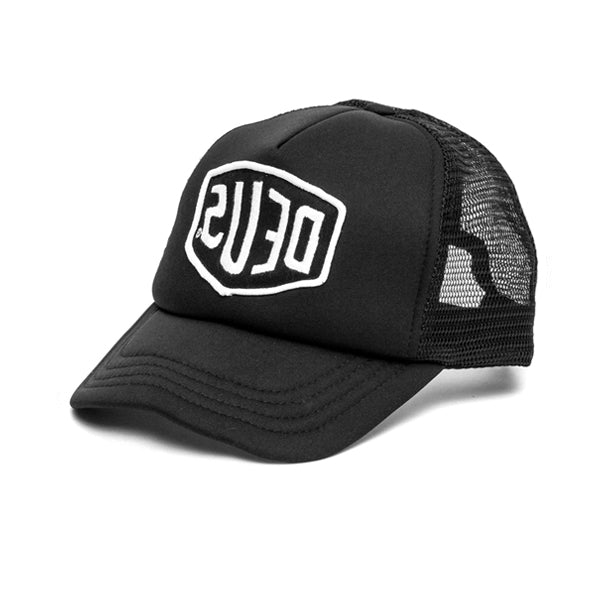 Deus Baylands Trucker Cap Black White