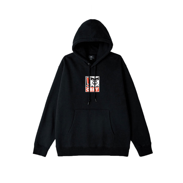 Obey Exclamation Point Hoodie Black