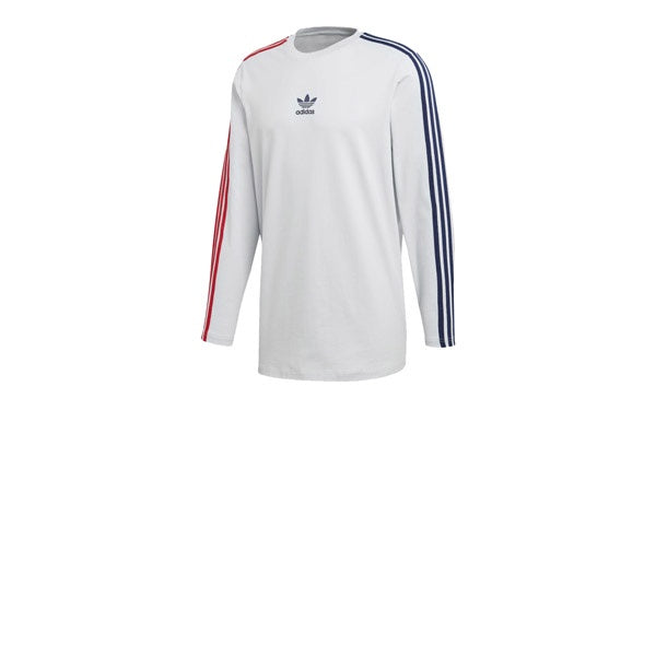 Adidas L/S Stripe Tee Clear Grey