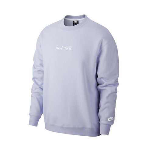 Nike Just Do It Crew Fleece Lavender Mist White