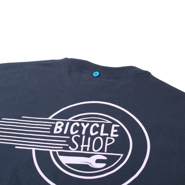 FNKST Bicycle Shop Tee Navy Pink - Kong Online - 3