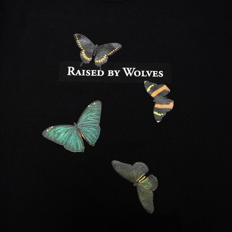 Raised by Wolves Butterflies Tee Black