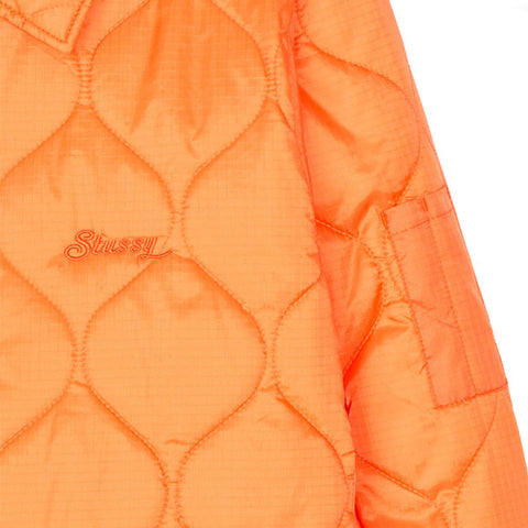 Stussy Quilted Work Jacket Orange