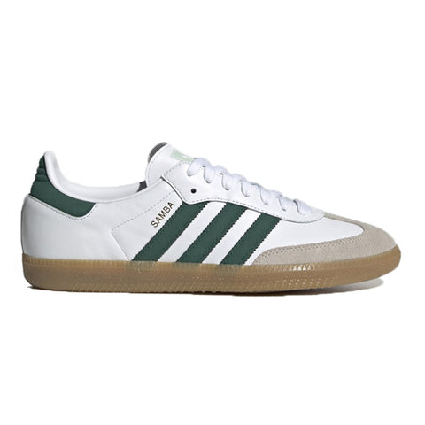 Adidas Samba OG White Cloud White Green Vapor Green