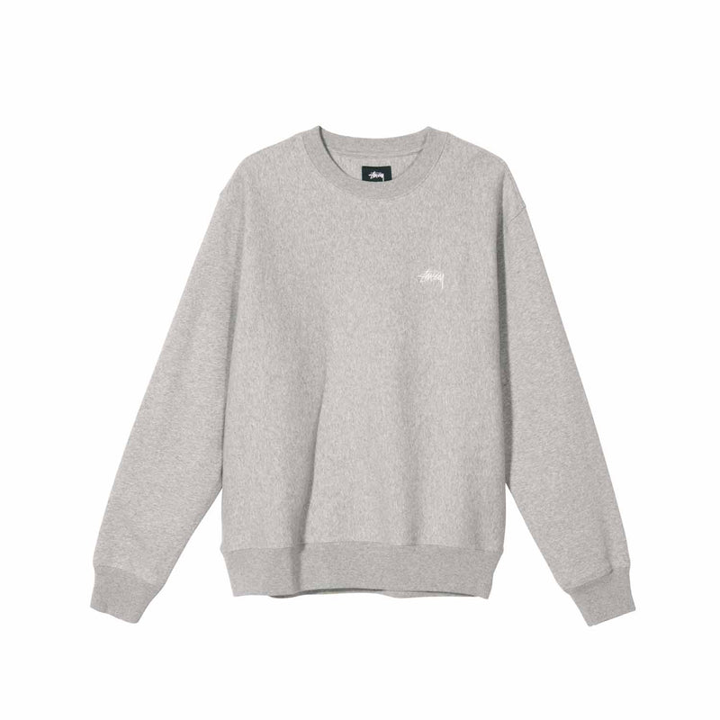 Stussy Stock Logo Crew Grey Heather