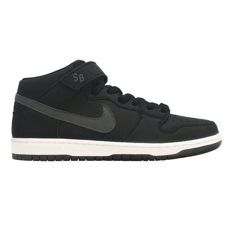 Nike SB Dunk Mid Pro ISO Black/Dark Grey-Black-White