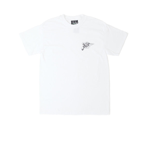 FNKST 24HR Courier Tee White Black - Kong Online - 1