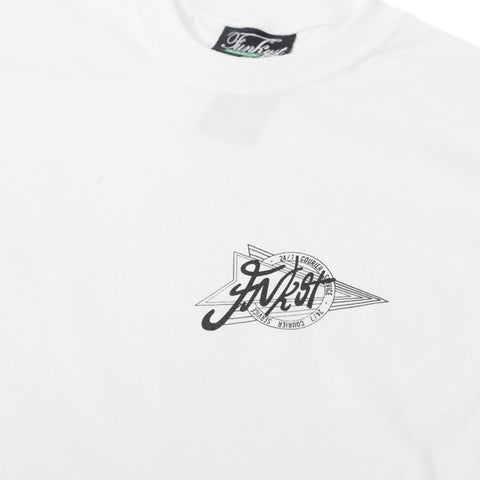 FNKST 24HR Courier Tee White Black - Kong Online - 2