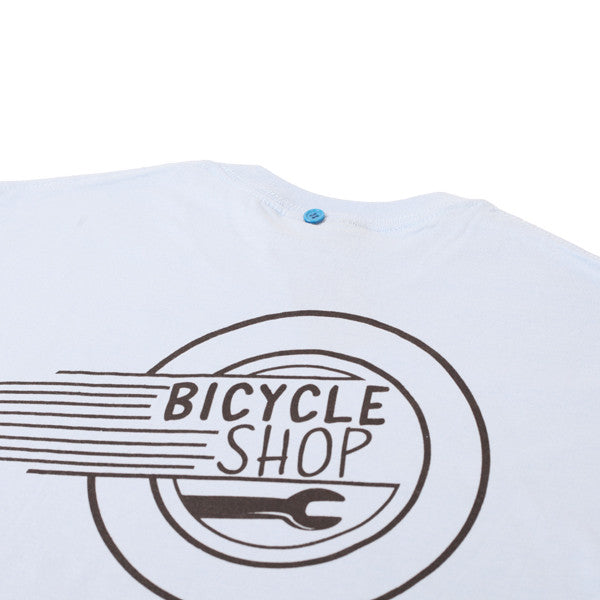 FNKST Bicycle Shop Tee Light Blue - Kong Online - 3