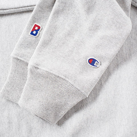 Champion x Beams Logo Crewneck Sweatshirt Grey - Kong Online - 2