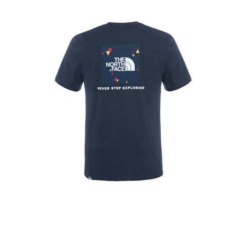 The North Face SS Red Box Tee Navy - Kong Online - 2