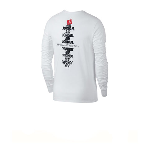 Air Jordan JSW L/S AJ3 Do You Know Tee White