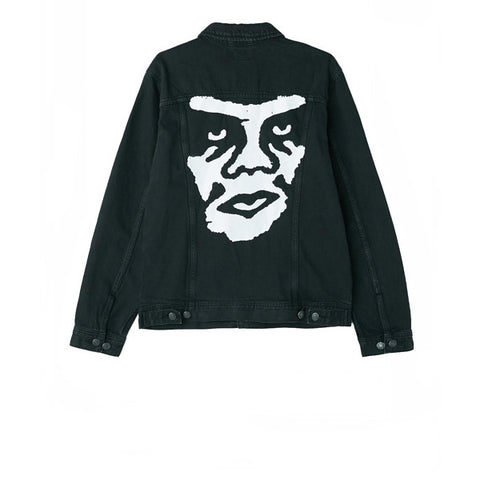 Obey Creeper Denim Jacket Dusty Black