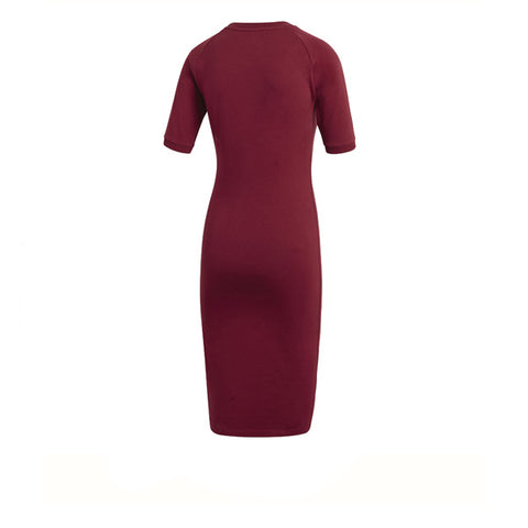 Adidas 3 Stripes Dress Burgundy