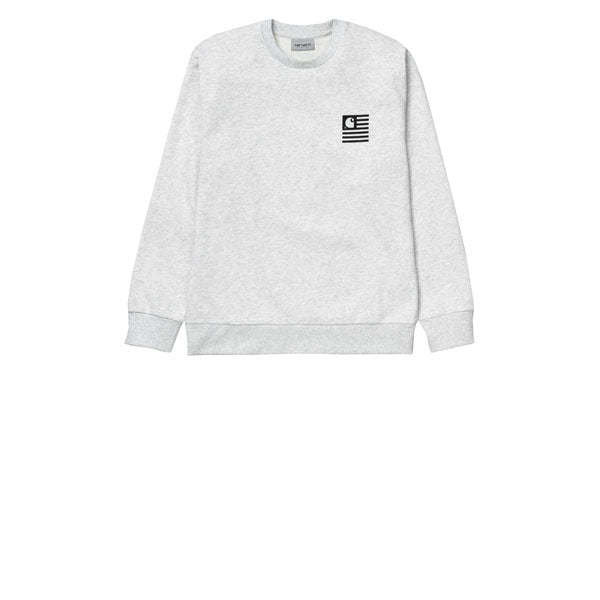 Carhartt State Patch Sweat Ash Heather