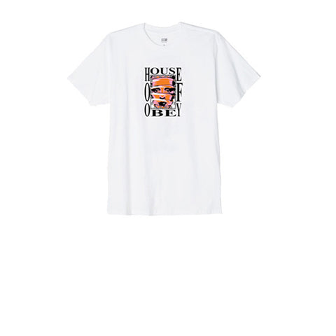 Obey House Of Obey Tee White
