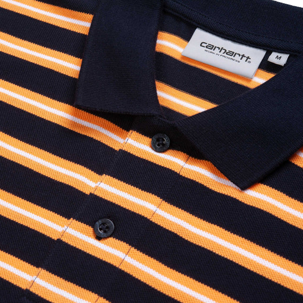 Carhartt Oakland Stripe Polo Dark Navy
