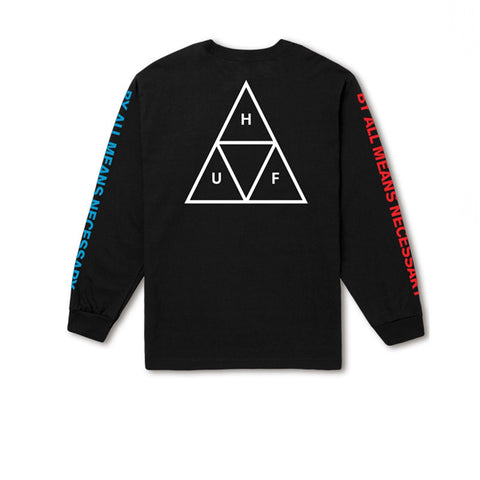HUF L/S Triple Triangle Tee Black
