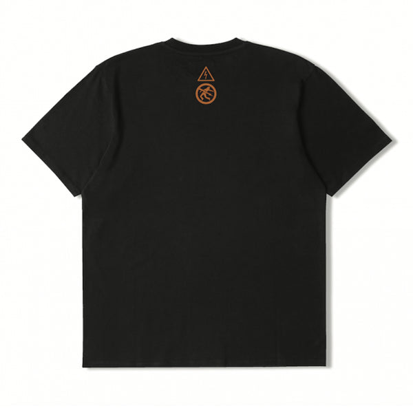 Edwin Warning Tee Black