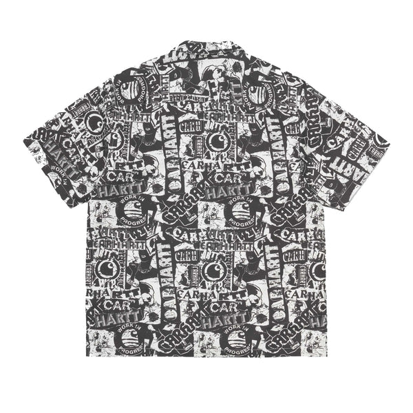 Carhartt SS Collage Print Shirt Black