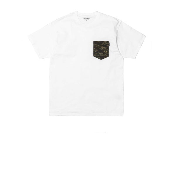 Carhartt S/S Lester Pocket T-Shirt White Camo Tiger Laurel