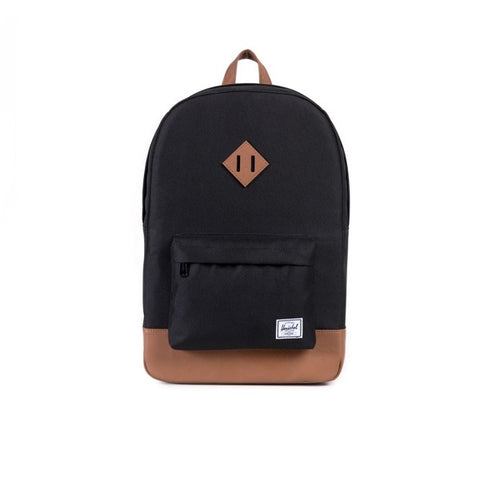 Herschel Heritage Black Tan Synthetic Leather