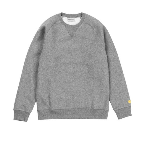 Carhartt Chase Sweat Dark Grey Heather Gold