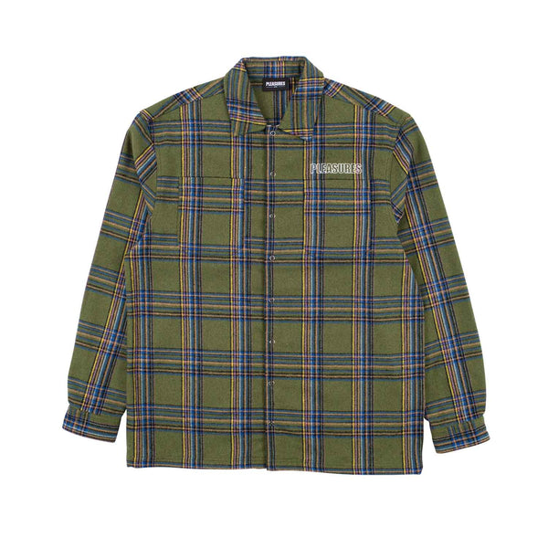 Pleasures Widow Heavyweight Flannel Green