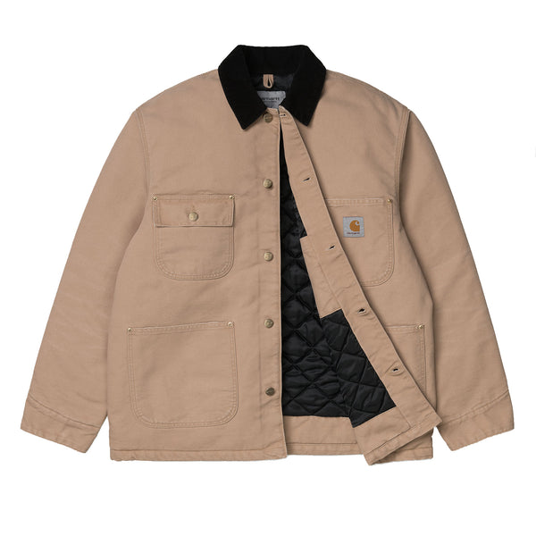 Carhartt WIP OG Chore Coat Organic Cotton Dusty H Brown / Black (Aged Canvas)