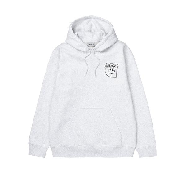 Carhartt WIP Hooded Smiley Sweat Ash Heather/Black