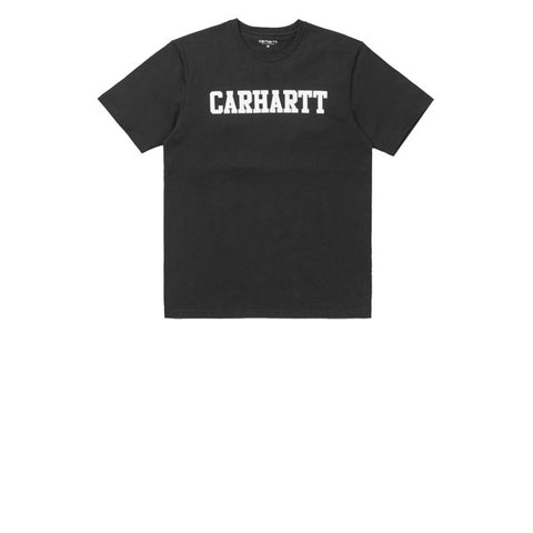 Carhartt S/S College T-Shirt Black White