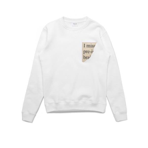 WOOD WOOD Houston Sweatshirt White - Kong Online