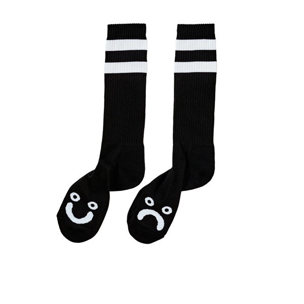 Polar Happy Sad Classic Sock Black White