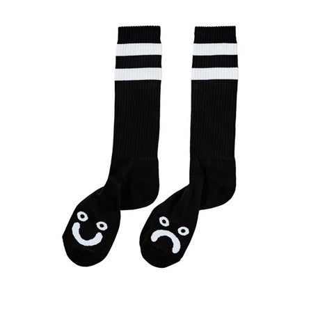Polar Happy Sad Classic Sock Black White - Kong Online