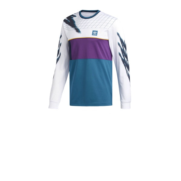 Adidas Tennis Jersey White Tribe Purple Real Teal