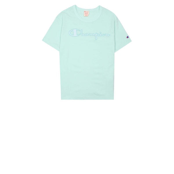 Champion Pinstripe Logo T-Shirt Mint