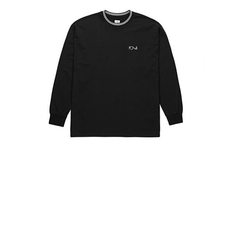 Polar Striped Rib Longsleeve Black White