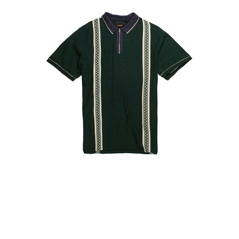 Butter Goods Butter Newark Zip Polo Shirt Forest